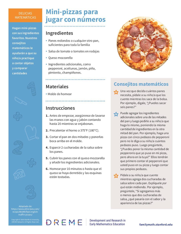 Download Mini-pizzas para jugar con números PDF