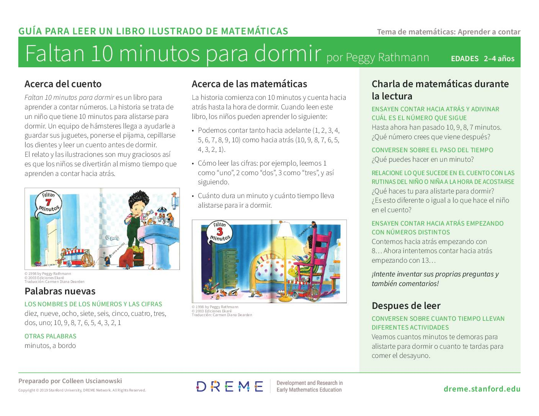 Download 10 Minutes till Bedtime Storybook Guide (en Español) PDF