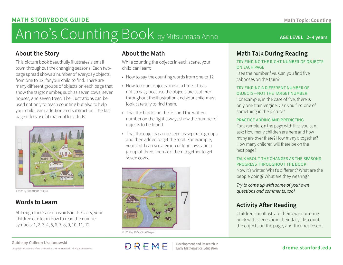 Download Storybook Guide for Anno's Counting Book PDF