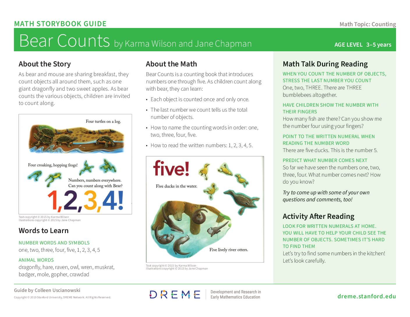 Download Storybook Guide for Bear Counts PDF