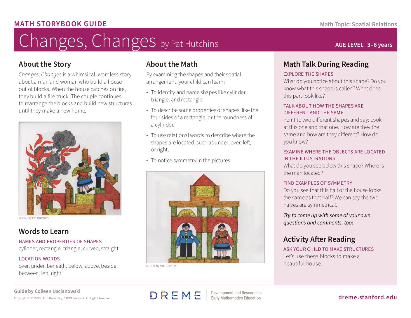 Download Storybook Guide for Changes, Changes PDF