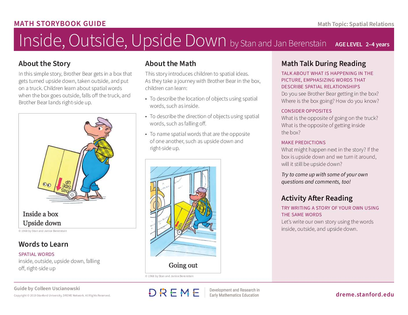 Download Inside Outside Upside Down Storybook Guide PDF