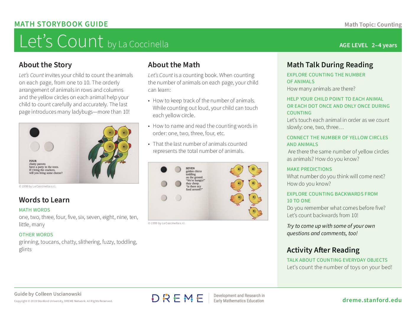 Download Storybook Guide for Let's Count PDF