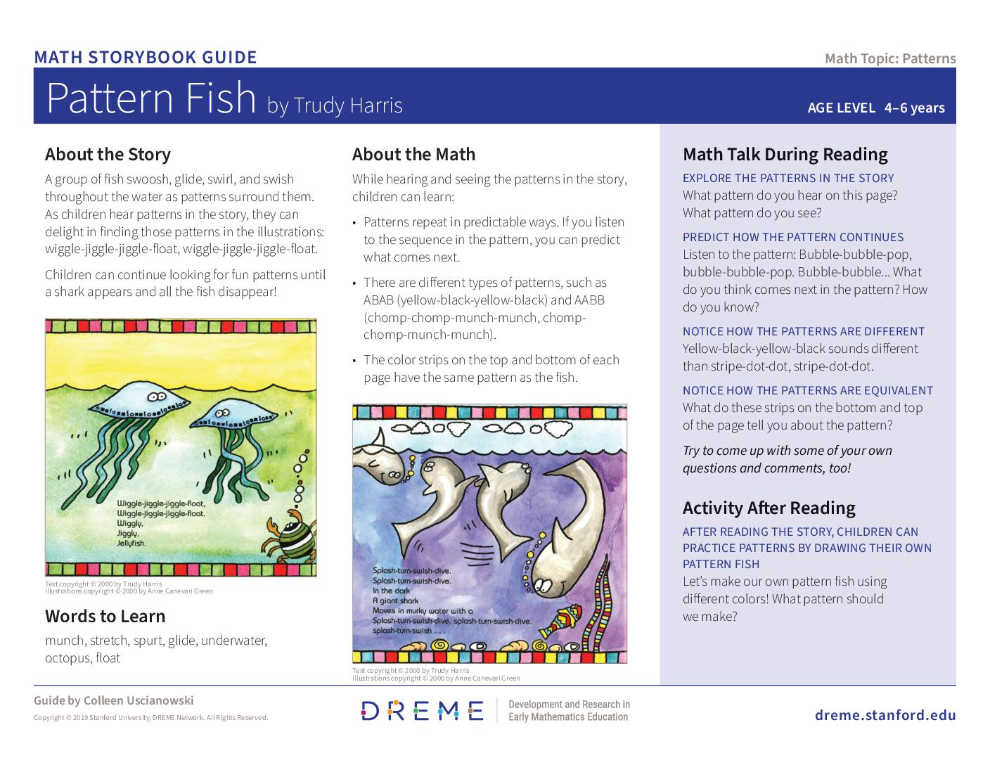 Download Storybook Guide for Pattern Fish PDF