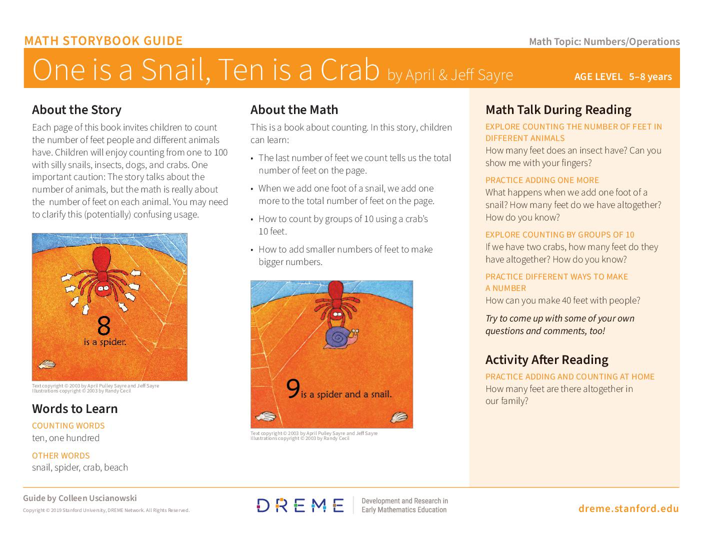Download Storybook Guide for One is a Snail PDF