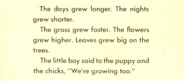 """Text excerpt from """"Growing Story."""""""