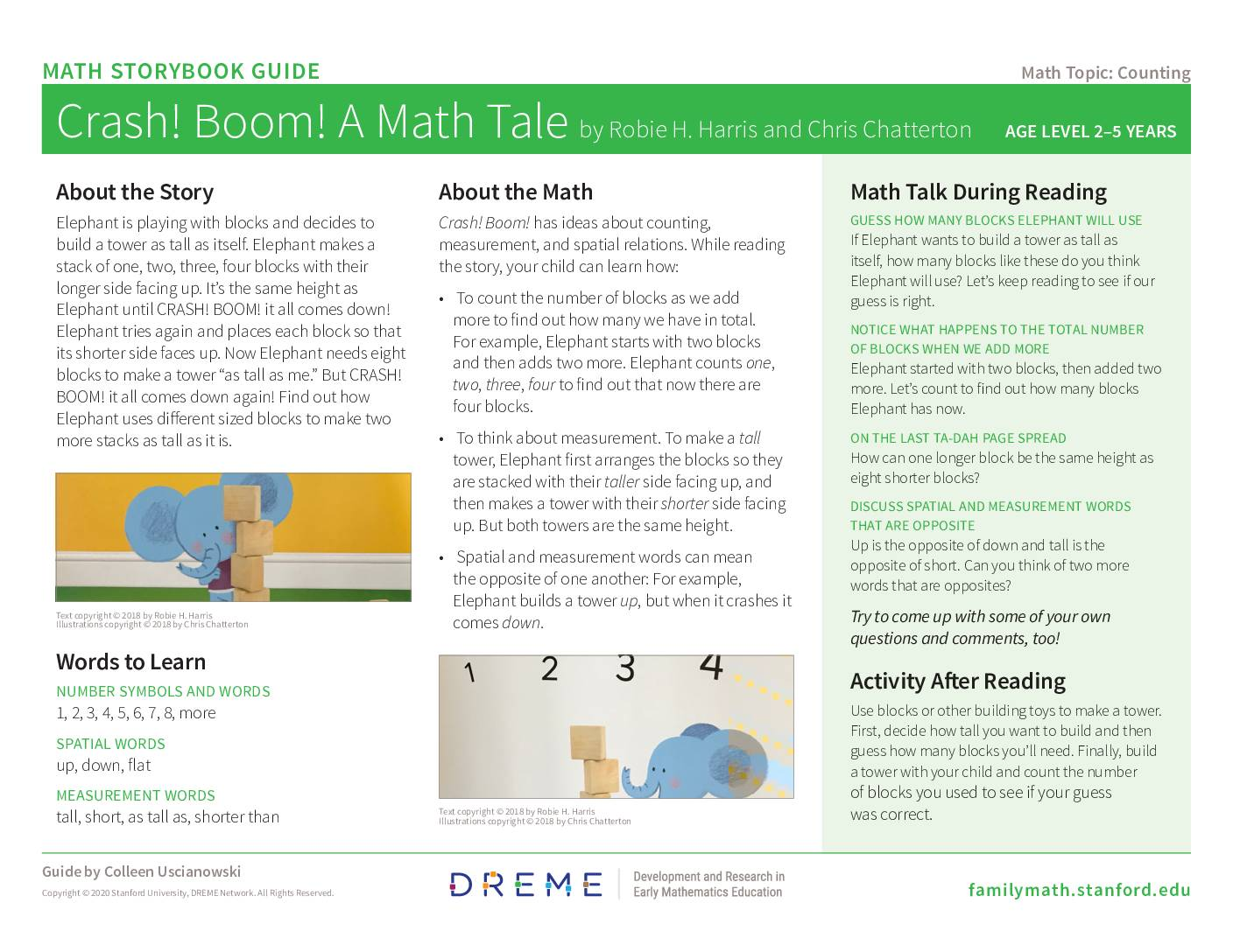 Download Storybook Guide for Crash! Boom! A Math Tale PDF