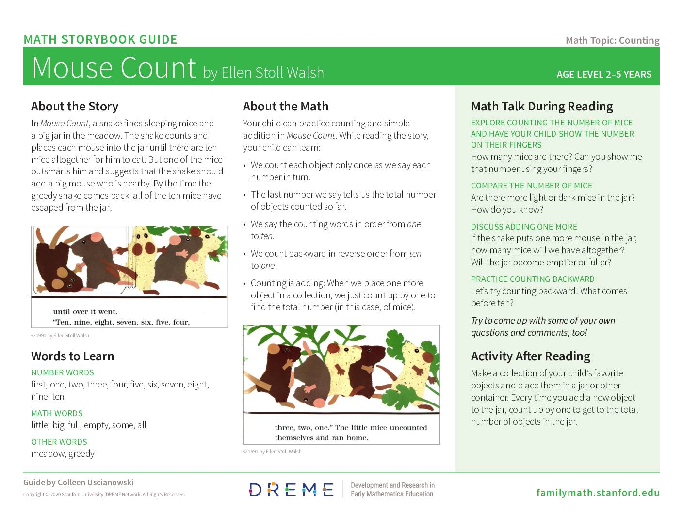 Download Storybook Guide for Mouse Count PDF