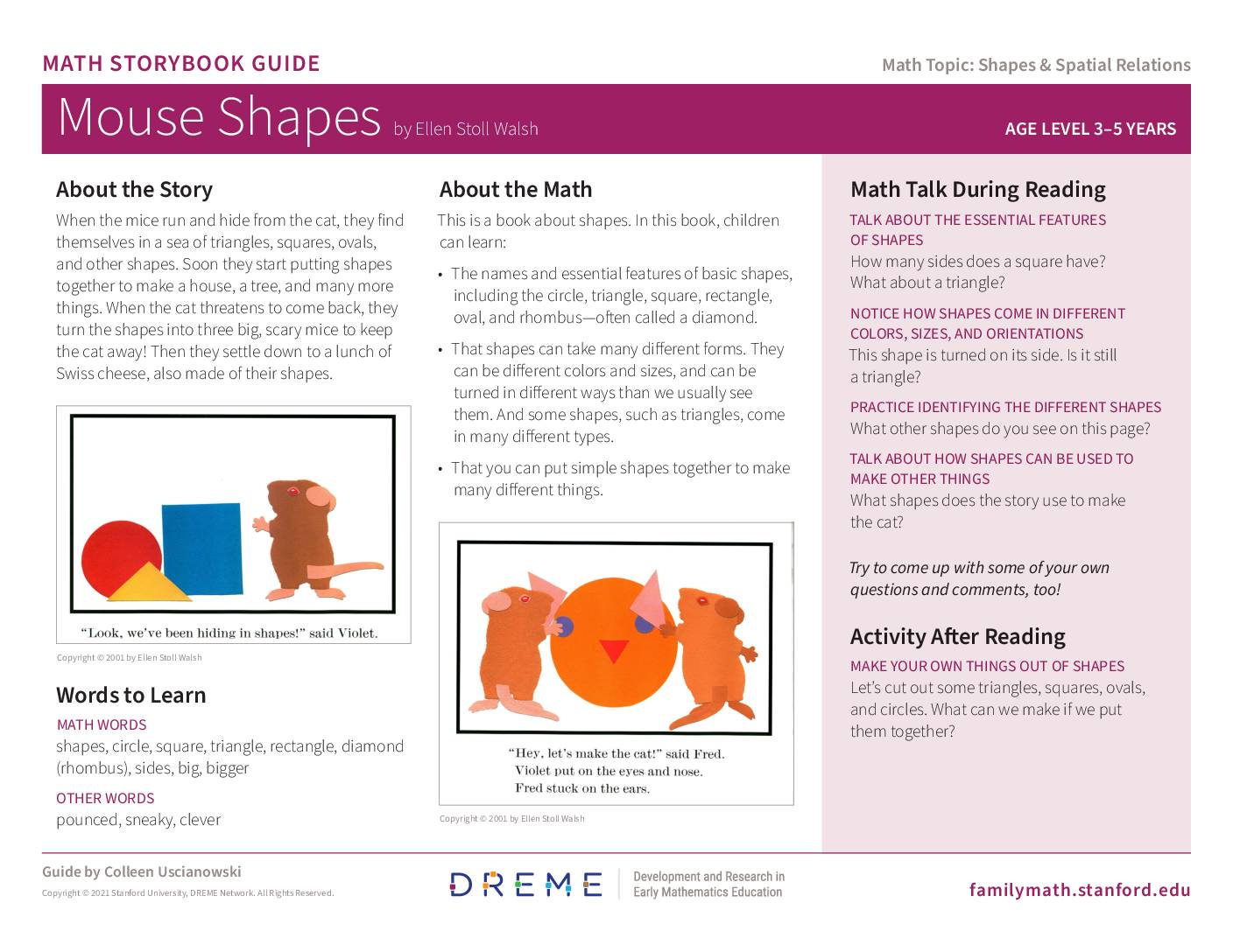 Download Storybook Guide for Mouse Shapes PDF