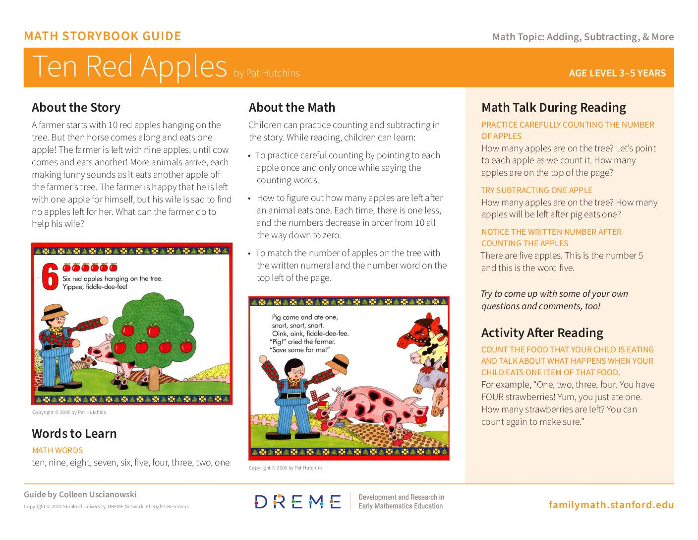 Download Storybook Guide for Ten Red Apples PDF