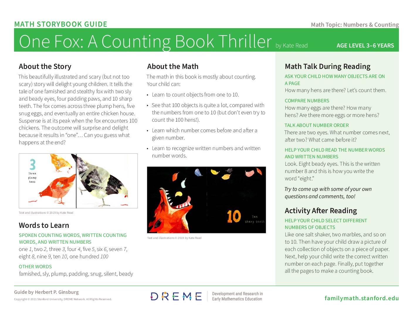 Download Storybook Guide for One Fox PDF